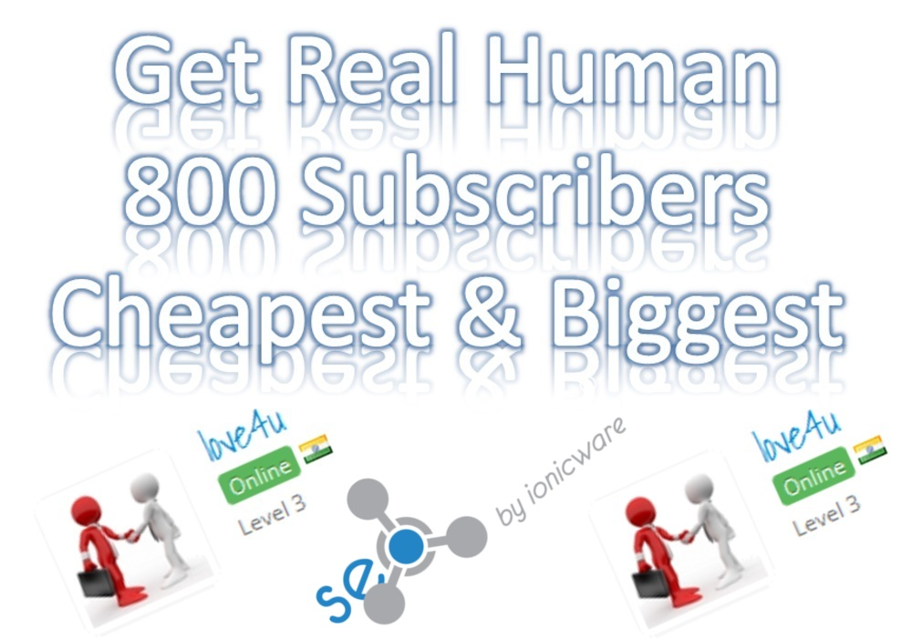Get Real & Active 800 Youtube Subs Cribers Non Drop Biggest cheapest Rate