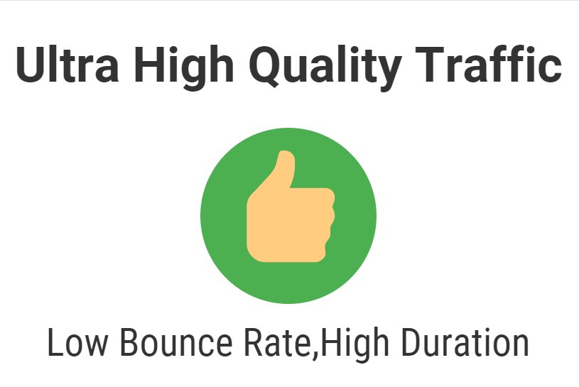 Ultra high quality traffic for 1 month