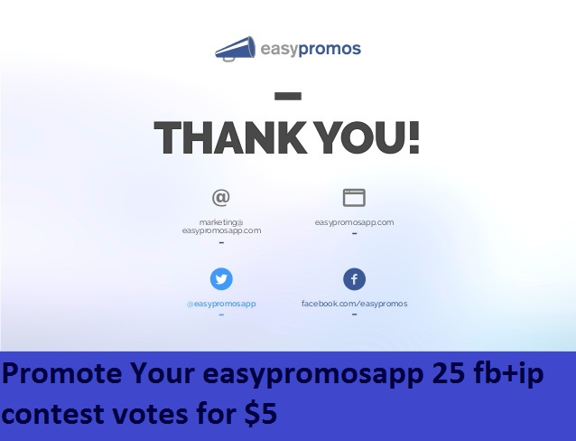 Promote Your easypromosapp 25 ip contest votes