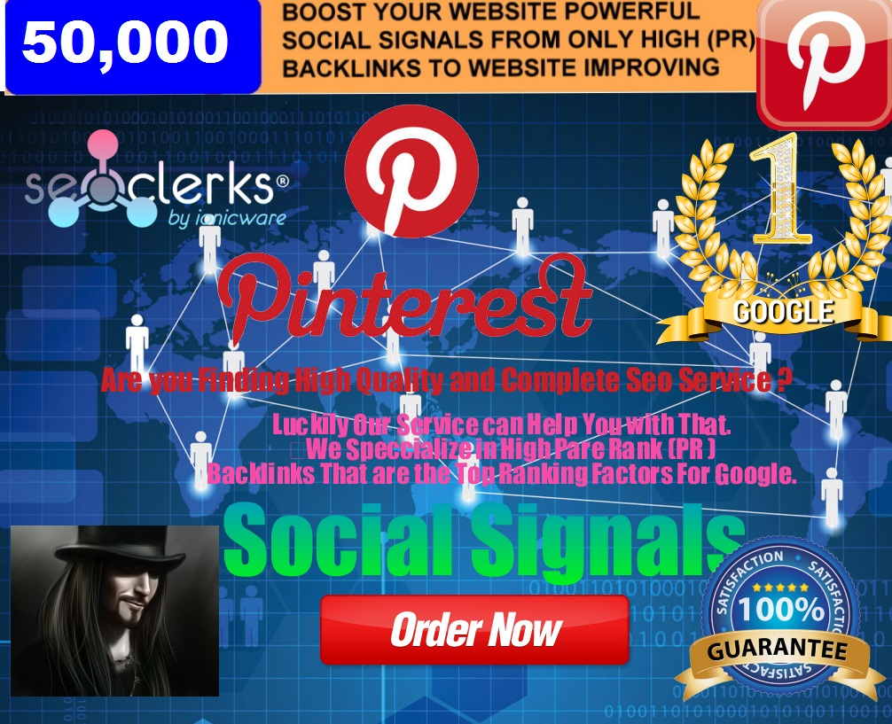 50,000 PR9 Permanent Social Signals Pinterest Share Important For Website Ranking