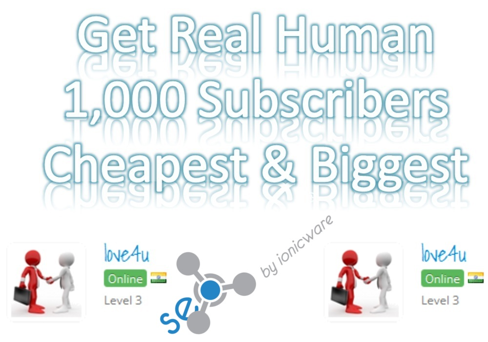 Get Real & Active 1000 Youtube Subs Cribers Non Drop Biggest cheapest Rate
