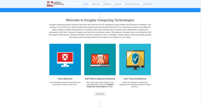 Design You A Computer Repair  Theme Website