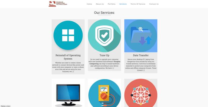 Design You A Computer Repair  Theme Website