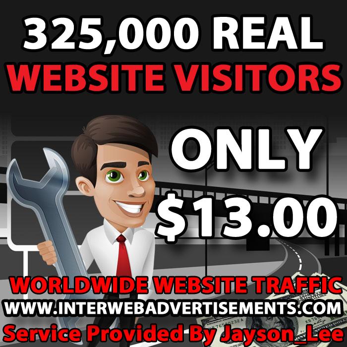325K Web Traffic To Your Website, Blog or Affiliate Link