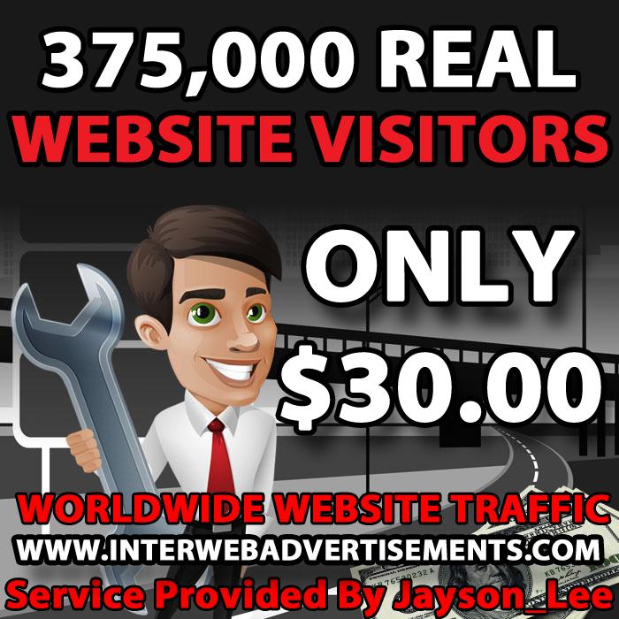 375K Web Traffic To Your Website, Blog or Affiliate Link