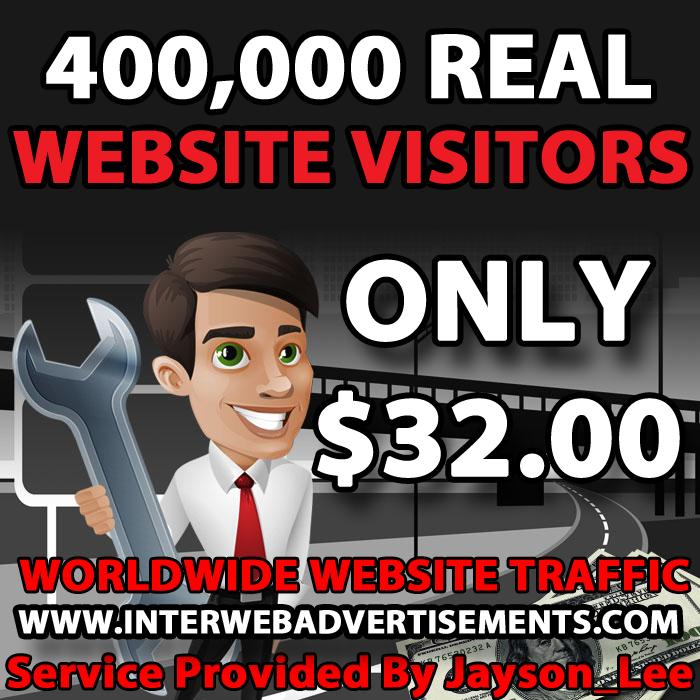 400K Web Traffic To Your Website, Blog or Affiliate Link