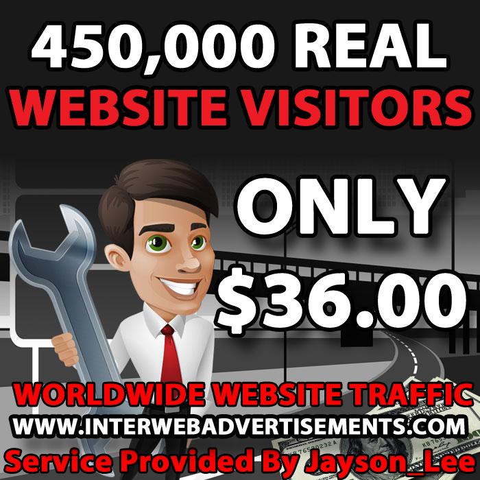 450K Web Traffic To Your Website, Blog or Affiliate Link