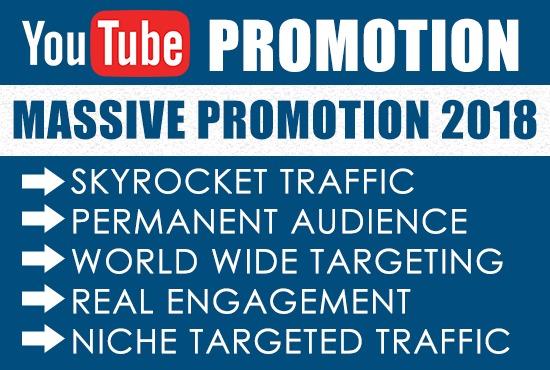 Give you 3000 REAL You-Tube Video Views & 30 likes BONUS