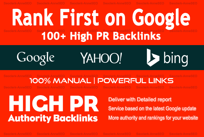 100 Manual SEO High PR Dofollow Backlinks