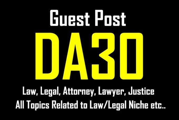 Publish A Guest Post On Da30 Law / Attorney Blog