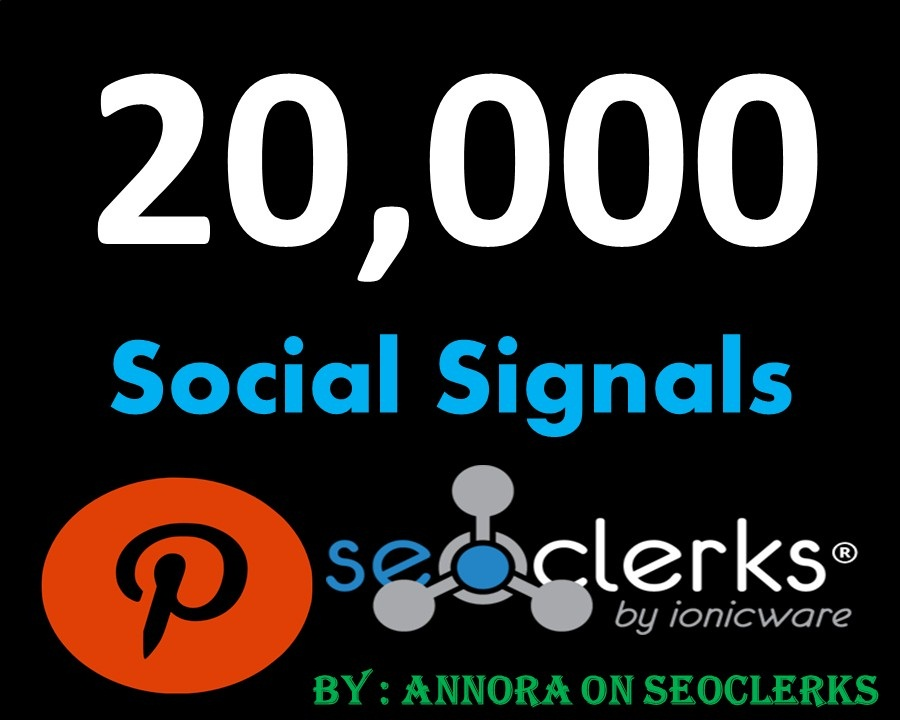 SUPER OFFER 20,000 Pinterest LifeTime USA social Signals benefit To boost Sites SEO Traffic & Share Bookmarking Backlink Most important Google Ranking influence
