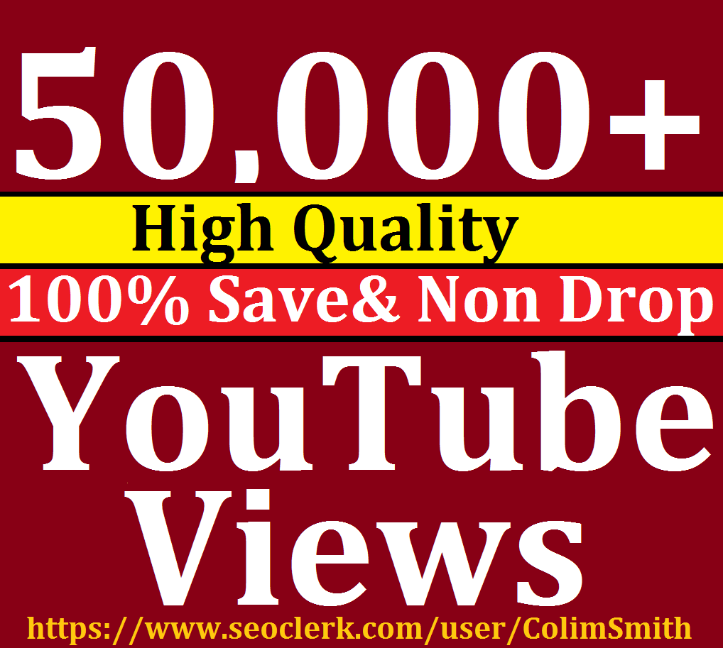 Instant 50,000-60,000 High Quality Utube Vie'w s Super Fast Speed