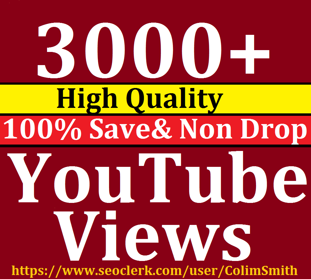 Instant 1000 to 3000 Or 1K to 3K Lifetime Nondrop Views 12-24 Hrs Super Fast Speed