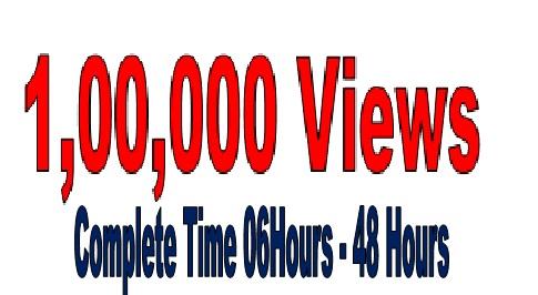 Manage fast 1,00,000  (100k) V id eo  V ie ws Increasing Super offer