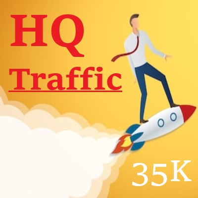 35K+ HQ VISITS to your LANDING PAGE
