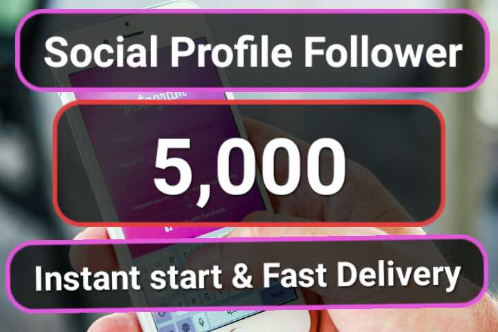 Get 5000+ Non Drop Social Followers
