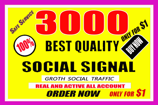 Do 3000 Quality SEO Social Signals
