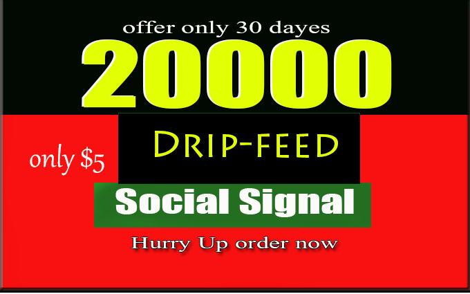 Do 20000 Quality SEO Social Signals