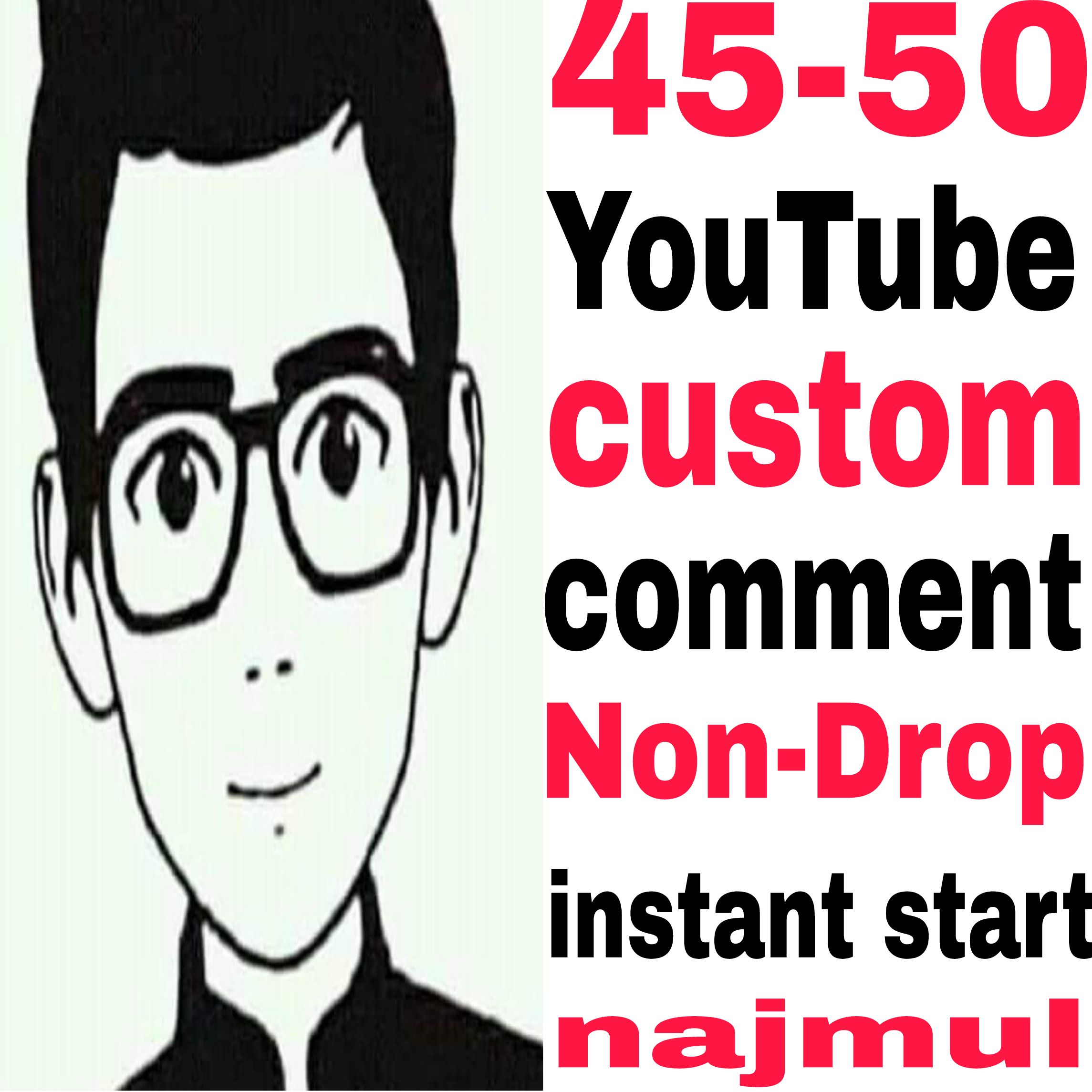 Non-Drop Guaranteed 45-50 custom comments from real active user just 1-5 hours completed