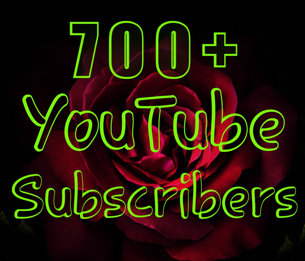 Non-drop 700+ Permanent You-Tube Sub-Scribers very fast