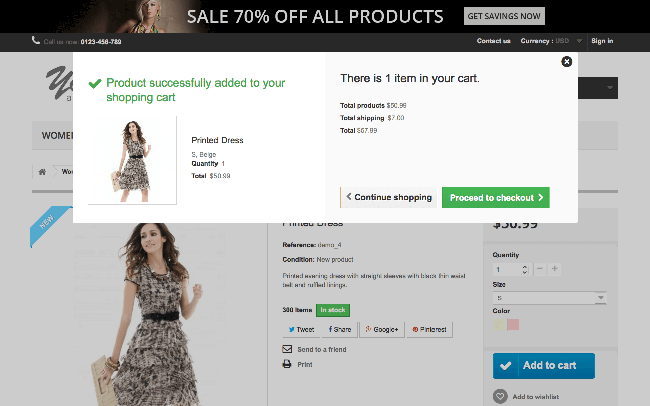 Ecommerce web store on hosted a non-existent name