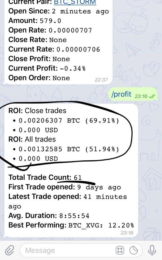 Install Freqtrade Bittrex Telegram Trading Bot