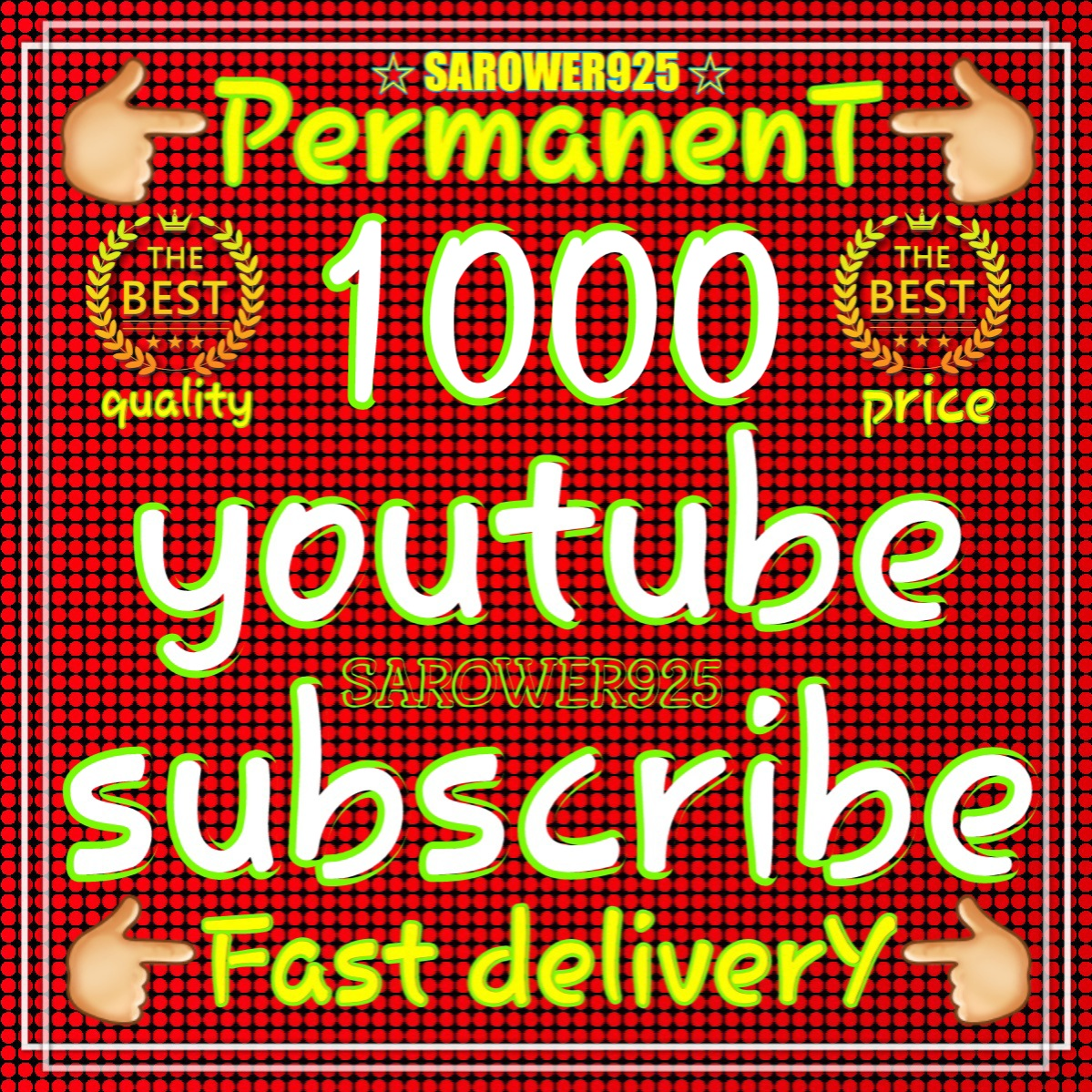Add 1010 Permanent Real and Active You'Tube Sub'Scribers very fast