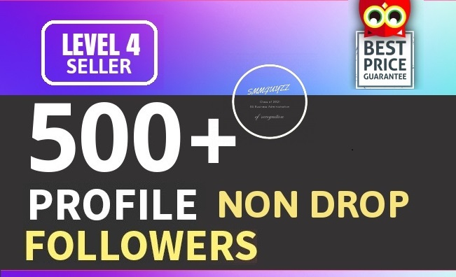 Add 500+ High Quality Fast Profile Followers NON DROP