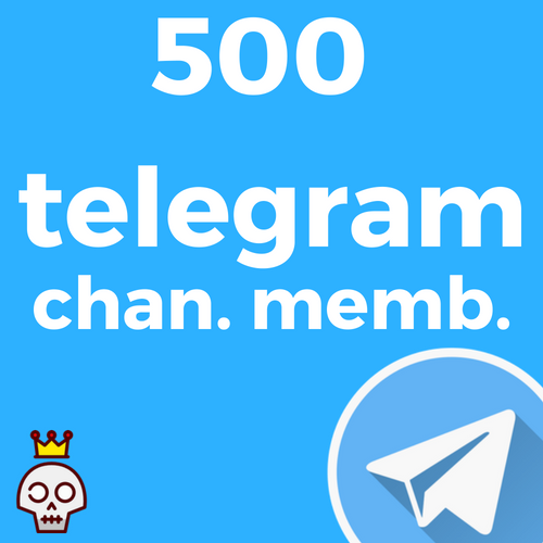 500 Telegram Channel Members