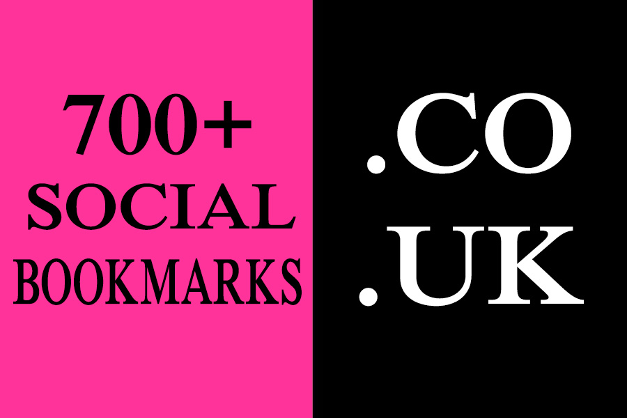 700+ HQ .CO .UK Social Bookmarks Backlinks for your Website, Keyword and Youtube