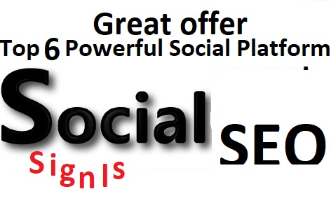 Great Top 5 Powerful Platform 1600+ PR9 SEO Social Signals Share Bookmarks Important Google Ranking Factors