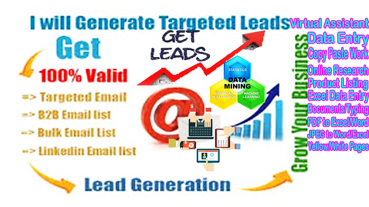 Umm give you 50 Lead Generat For Your Targeted Business