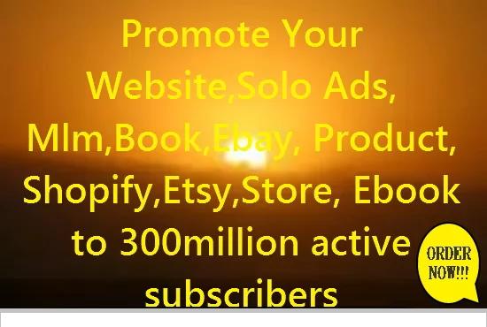 Shootout Promote Your Ecommerce, Website,  Ebook, Ebay, Amazon, Etsy, Store