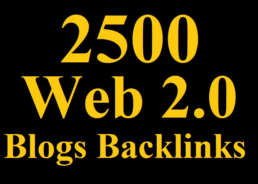 2500 Powerful WEB 2.0 Backlinks, DA 80+