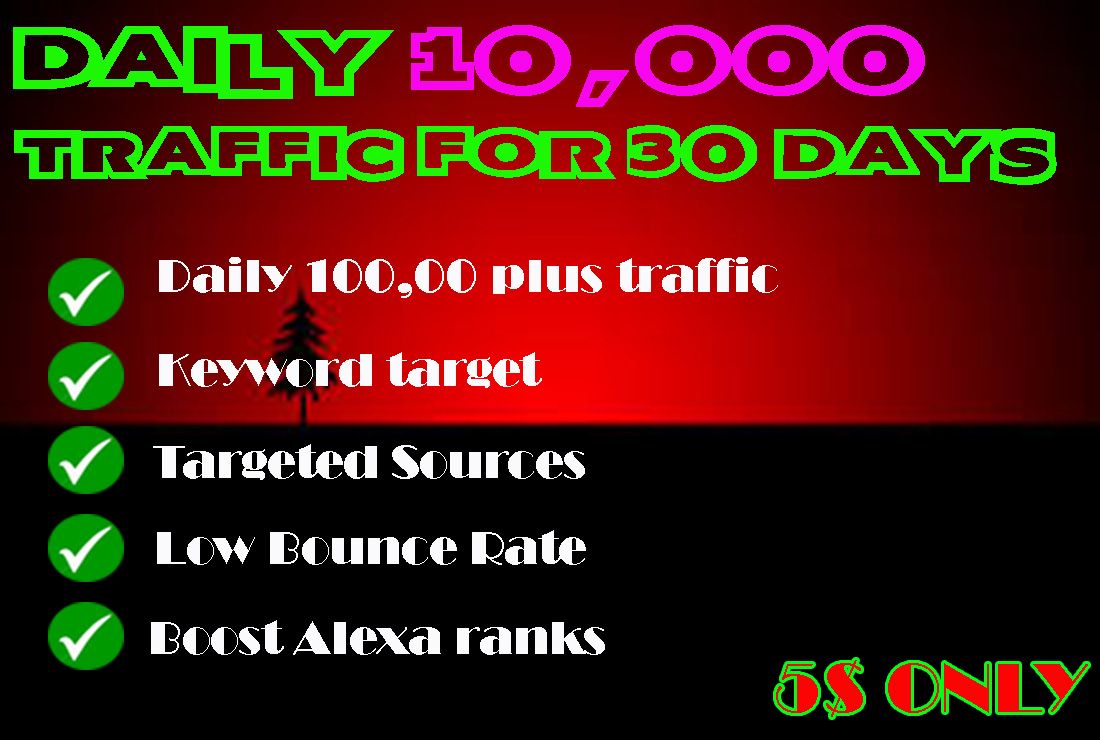 BRING DAILY 12000 GENUINE VISITORS FOR 30 DAYS