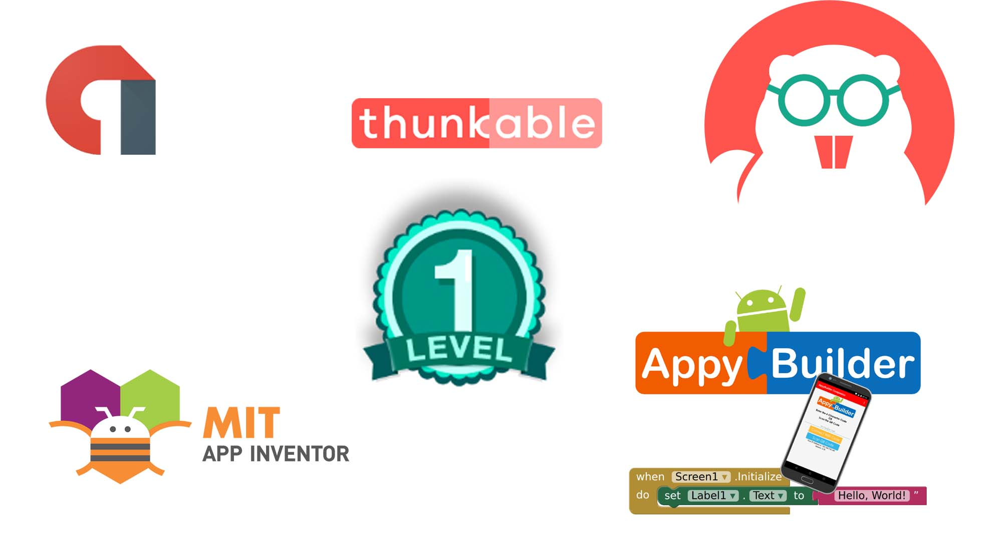 Create mit, thunkable, appybuilder android app and fix bug