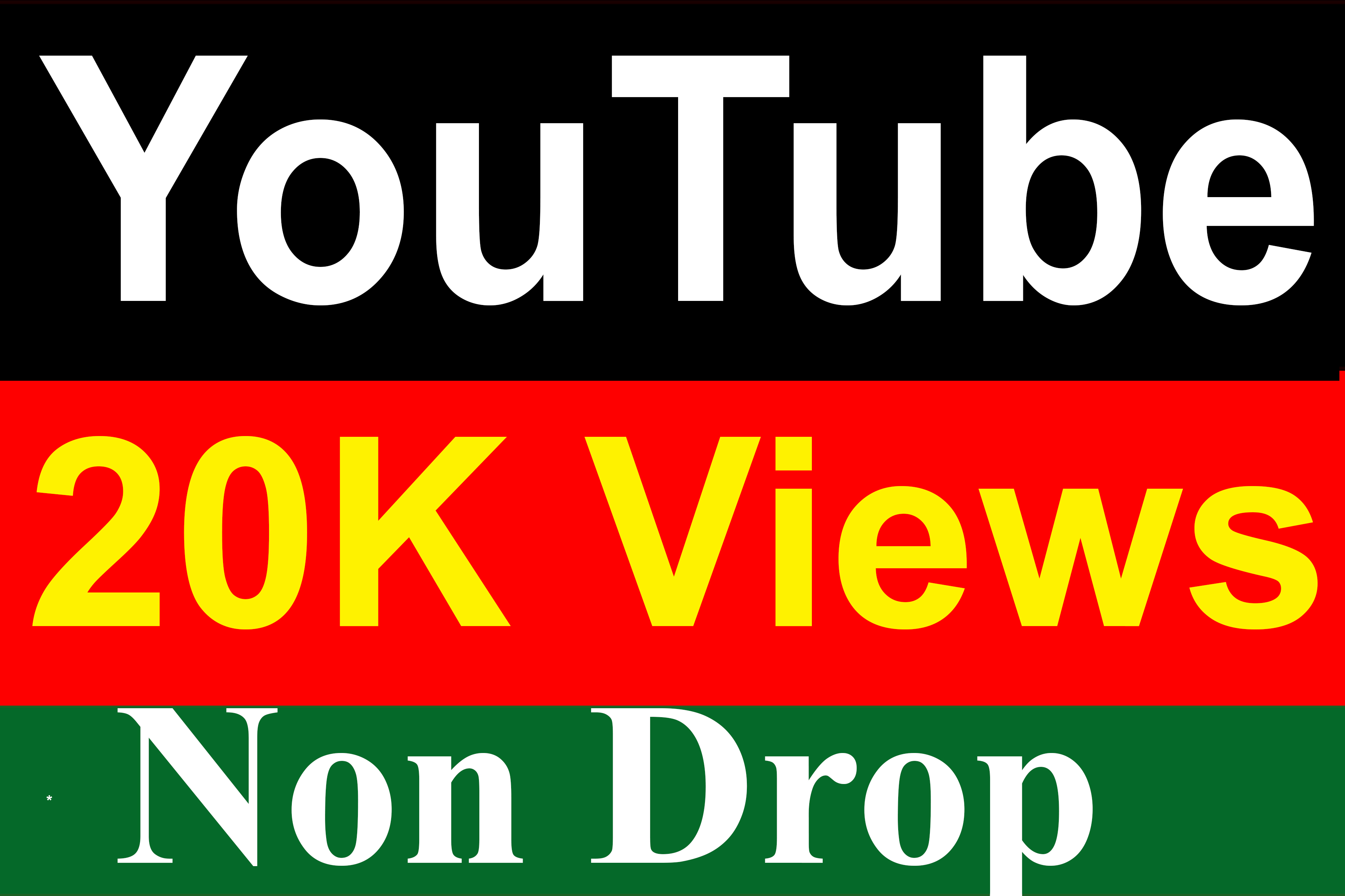 20,000 / 20K YouTube Vieews Non Drop High Quality Fully Safe Your Channel