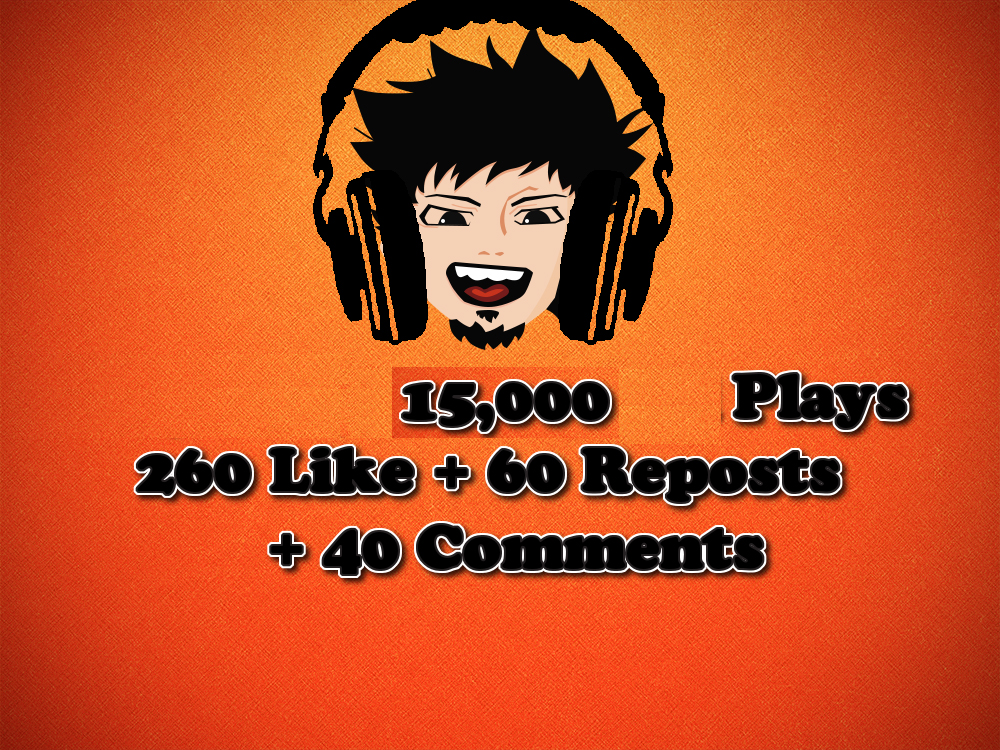 15,000 Play + 260 Like + 60 Reposts + 40 Comments