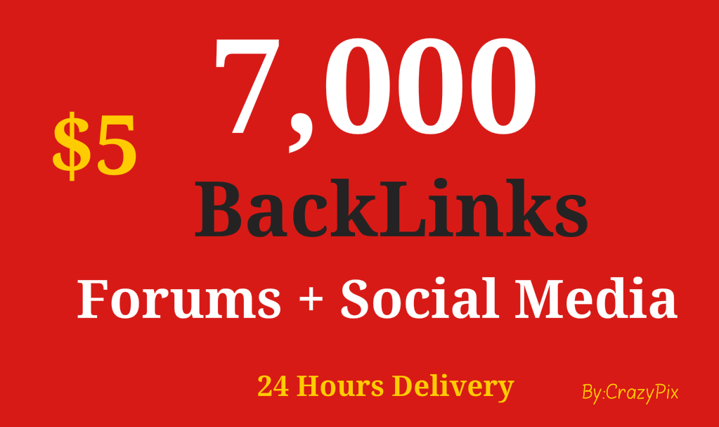 7000 SEO Backlinks From Forums and Social Media with Unique Content