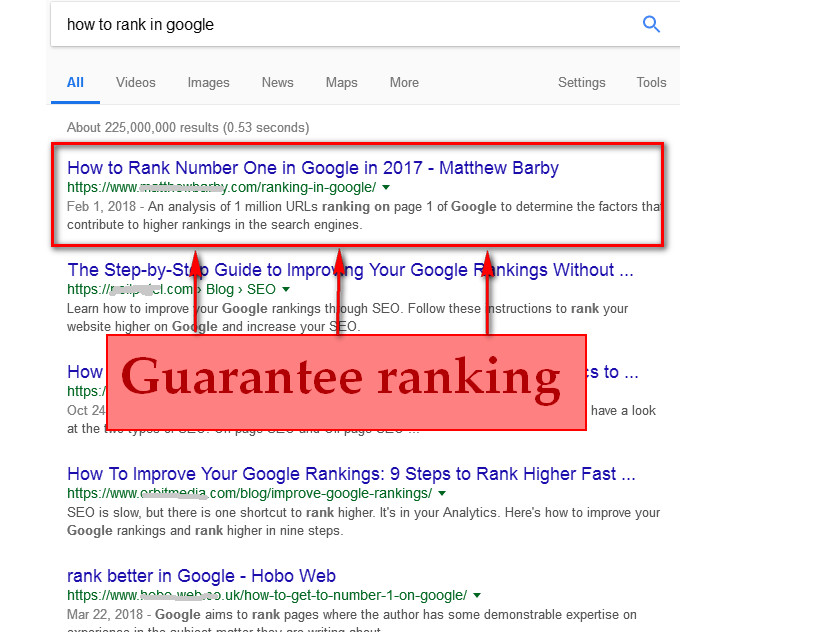 rank your website on 1st page following google guidelines