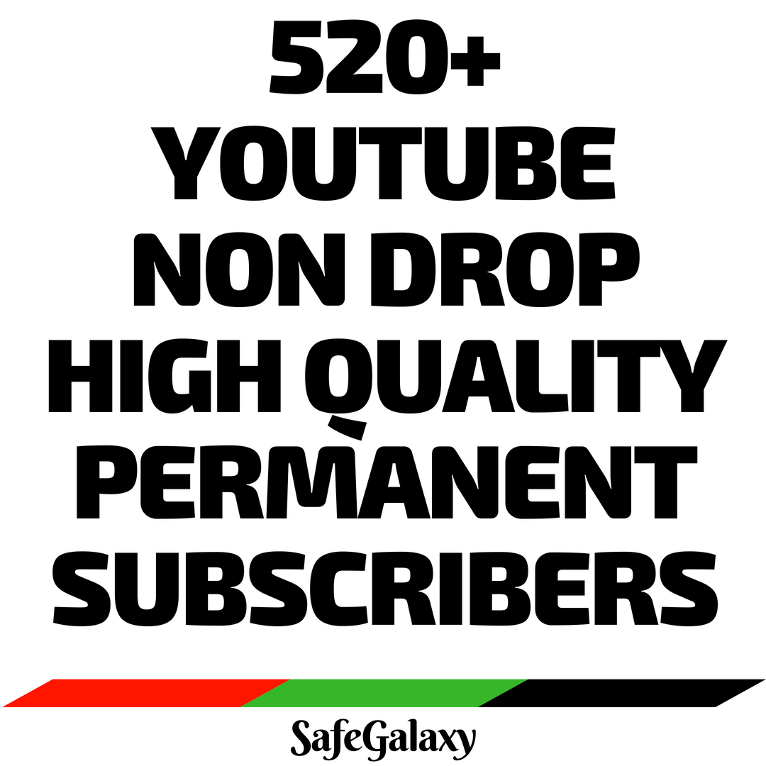 Totally Civilize 520+ Youtube High Quality Non Drop Permanent Subs-cribers