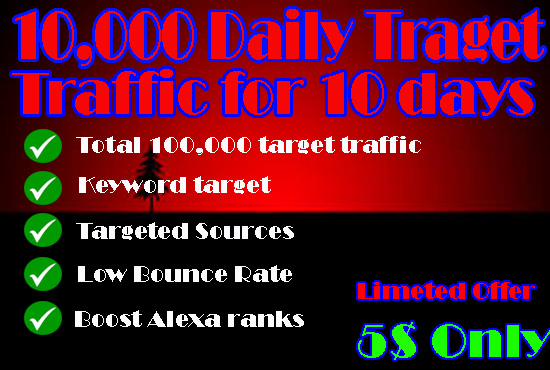DRIVE LOW BOUNCE RATE 100000 WEBSITE TRAFFIC IN 10 DAYS
