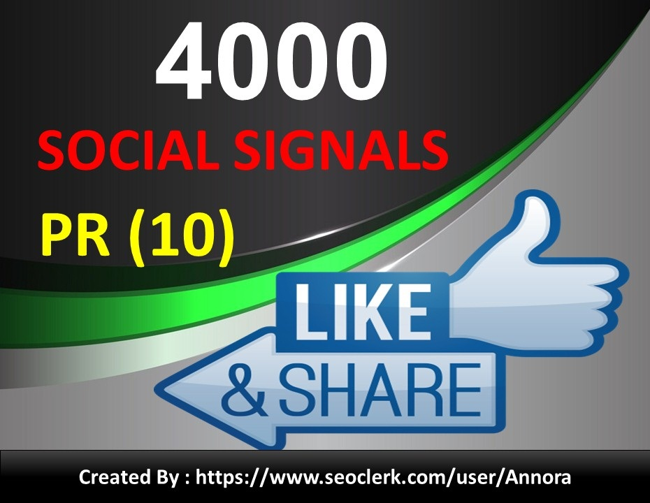 NO1 Social Media Platform 4000+ PR10 SEO Social Signals Share Bookmarks Important Google Ranking Factors