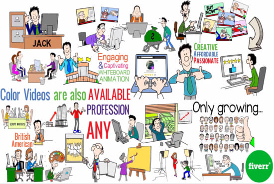 Provide you a professional whiteboard animations