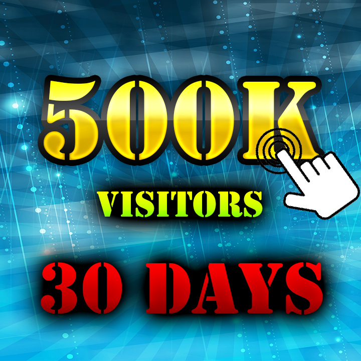 500.000+ Visitors Search engine & Social Media to your Website