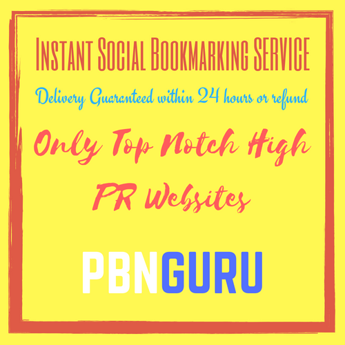 25 Influential Very High PR Social Bookmarking Links within 24 Hours or Money Back