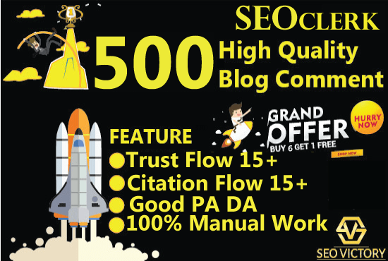 get 500 high Quality dofollow blog comment