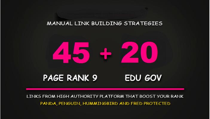 45 Pr9 DA 100-80 + 20 EDU - GOV Highpr SEO Authority Backlinks To Fire Your Google Ranking