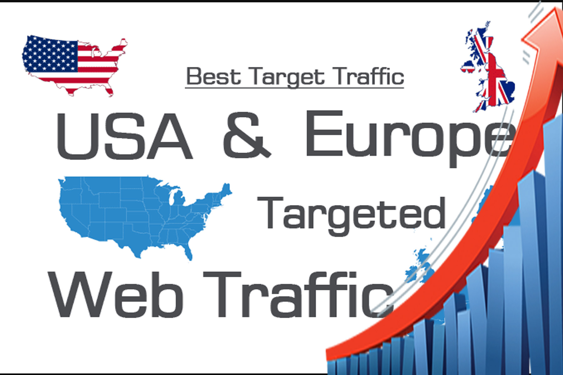 drive human visitors to any kind of your website 1300+ daily visitors for 30 days