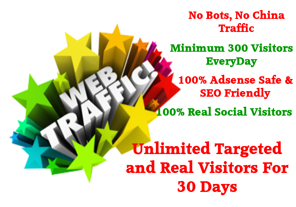 drive human visitors to any kind of your website